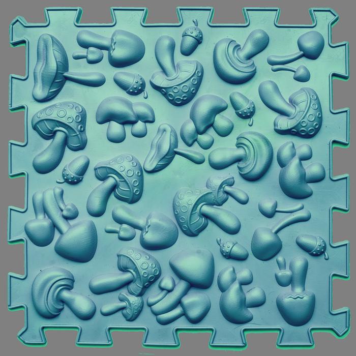 """Массажный коврик Пазлы с настольной игрой """"Лісові пригоди"""" 8 элементов"""