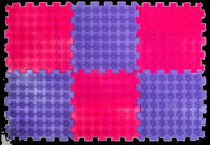 Акупунктурный массажный коврик Лотос 6 элементов
